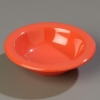 "Carlisle 4-3/4"" Sierrus™ Rimmed Fruit Bowl - Sunset Orange"