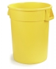 Carlisle Bronco™ Waste Containers  - Yellow, 32 Gal.