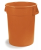 Carlisle Bronco™ Waste Containers  - Orange, 32 Gal.