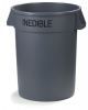 "Carlisle Bronco™ Gray Waste Container - 31.35"" H X 24"" D"