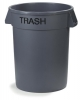 Carlisle Bronco™ Trash Gray Wast Container - 32 Gal.
