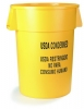 Carlisle Bronco™ Yellow Waste Container - 44 Gal .