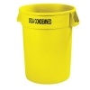 Carlisle Bronco™ Yellow Wast Container USDA Condemned - 32 Gal.