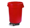 Carlisle Bronco™ Red Container with Dolly - 32 Gal.