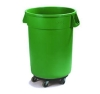 Carlisle Bronco™ Green Container with Dolly - 32 Gal.