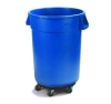 Carlisle Bronco™ Blue Container with Dolly - 32 Gal.