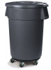 Carlisle Bronco™ Gray Container with Dolly - 32 Gal.