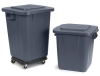 Carlisle Bronco™ Gray Square Waste Container - 28 Gal.