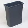 Carlisle TrimLine™ Gray Trash Container - 15 Gallon