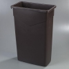 Carlisle TrimLine™ Dark Brown Container - 23 Gal.