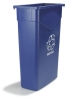 Carlisle TrimLine™ Blue Waste Container - 15 Gallon
