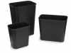 Carlisle Black Fire Resistant Wastebaskets - 28 Qt.