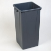 Carlisle Centurian™Gray Tall Square Container - 23 Gallon