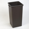 Carlisle Centurian™Brown Tall Square Container - 23 Gallon