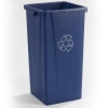 Carlisle Centurian™ Blue Tall Square Recycle Container - 23 Gallon