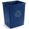 Carlisle Blue Recycle Waste Container - 56 Gallon