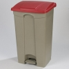 Carlisle Step-On Red Waste Container - 12 Gal.