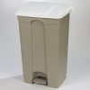 Carlisle White Step-On Container - 18 Gal