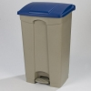 Carlisle Blue Step-On Container - 18 Gal
