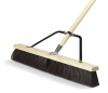 Carlisle Black Medium Sweep w/Stiff Polypropylene Bristles Center & Softer Border - 24""
