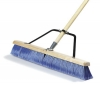 Carlisle Medium Sweep w/Blue Plastic Bristles & Center Row Wire - 24""