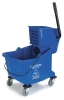 Carlisle Blue Flo-Pac® Bucket with Side Press Wringer - 35 Qt.