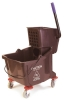 Carlisle Brown Flo-Pac® Bucket with Side Press Wringer - 35 Qt.
