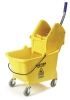 Carlisle Yellow Flo-Pac® Bucket/Wringer w/Down Press - 26-35 Qt.