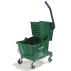 Carlisle Green Bucket with Side Press Wringer - 26 Qt.