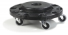 Carlisle Bronco™ Standard Round Container Dolly - Black