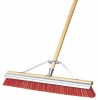 Carlisle Flo-Pac® Orange Polypropylene Sweep With Steel Scraper Blade - 24""