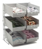 """Carlisle Wire Packet Rack, With 6 e 4 QT Containers - 14"""" X 12"""" X 18"""""""