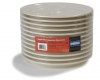 "Carlisle Dallas Ware® Tan 3-Compartment Plate - Cash & Carry - 9.67"" Dia"