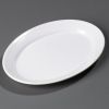 "Carlisle Designer White Displayware™ WR Oval Platter - 21"" x 15"""