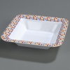 "Carlisle 14"" Palette Displayware Square Bowl - Spanish Tile"