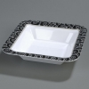 "Carlisle 14"" Palette Displayware Square Bowl - Black Waves"