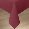 Carlisle Burgundy Softweave Plain Tablecloth - 90""