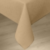 Carlisle Sandal-wood Softweave Plain Tablecloth - 90""