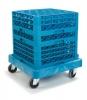 Carlisle E-Z Glide™ Warewashing Rack Dolly - Blue