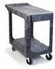 "Carlisle Gray Flat Shelf Utility Cart - 40"" x 19"" X 32-1/2"""