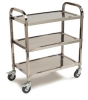 "Carlisle 3 Shelf Knockdown Stainless Steel Utility Cart 400lb Capacity  - 17-3/4"" W X 33-3/8"" L"