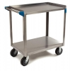 "Carlisle 2 Shelf Stainless Steel Utility Cart - 700lb Capacity, 21""W x 33""L"