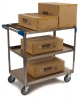 "Carlisle 3 Stainless Steel Utility Cart 500lb Capacity - 21""W x 35""L"