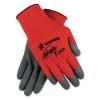 MCR Safety Ninja® Flex Latex Coated Palm Gloves - Large, Red/gray, 1 Dozen