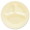 DART Quiet Classic® Laminated Foam Dinnerware - Plates, Honey, 3 Comp, 125/PK, 4 Pks/Ctn