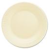 DART Quiet Classic® Laminated Foam Dinnerware - Plates, Honey, 125/PK, 4 Pks/Ctn