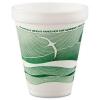 DART Horizon® Hot/Cold Foam Drinking Cups - 12 oz, Green/white, 25/Bag, 40 Bags/Ctn