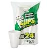 DART Small Foam Hot/Cold Drink Cups - 12 Oz, White, 24/Bag, 12 Bags/Ctn