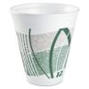 DART Impulse® Hot/Cold Foam Drinking Cups - 12 Oz, White/green/gray, 1000/Ctn