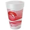 DART Horizon® Hot/Cold Foam Drinking Cups - 16 oz., Cranberry/white, 25/Bag, 40/Ctn